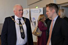 Chamber Preisident David Boyd with James Kilgore of Danske Bank attending the Causeway Chamber President's Business lunch at the Royal Court Hotel in Portrush.    05 Chamber Lunch
