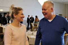 Inese and Kenneth McMillan of Isabella Lingerie Coleraine attending the Causeway Chamber President's Business lunch at the Royal Court Hotel in Portrush.    07 Chamber Lunch