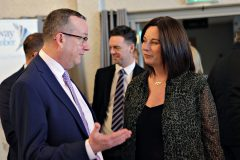 Roger Dallas of Irwin Donaghey and Stockman with Jayne Taggart of Enterprise Causeway attending the Causeway Chamber President's Business lunch at the Royal Court Hotel in Portrush.    12 Chamber Lunch