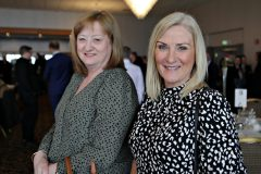 Pamela Doherty and Angela Stewart of Autoline Insurance attending the Causeway Chamber President's Business lunch at the Royal Court Hotel in Portrush.    13 Chamber Lunch