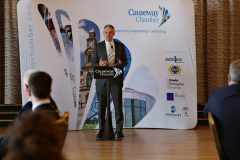 Guest speaker Kevin Holland CEO Invest NI attending the Causeway Chamber President's Business lunch at the Royal Court Hotel in Portrush.    23 Chamber Lunch