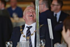 Chamber President David Boyd enjoying the day at the Causeway Chamber President's Business lunch at the Royal Court Hotel in Portrush.    27 Chamber Lunch