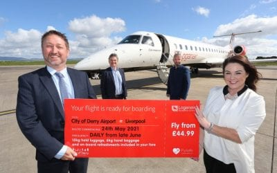 Welcome back as City of Derry Airport – Liverpool flights resume